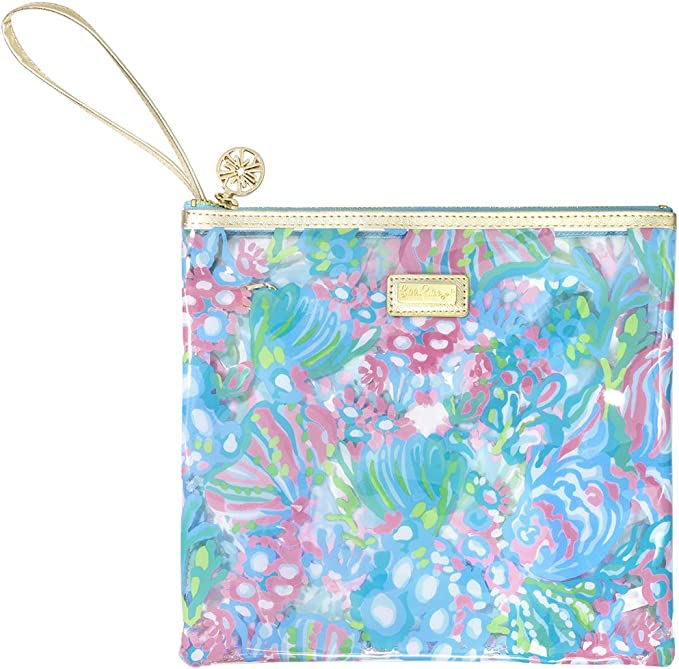 The Pool Pouch {Tie Dye Lotus Batik} Take me to the beach Fully lined in PUL Wristlet Wet bag.