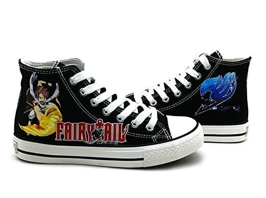 Fairy Tail Natsu Cosplay Shoes Canvas Shoes Sneakers