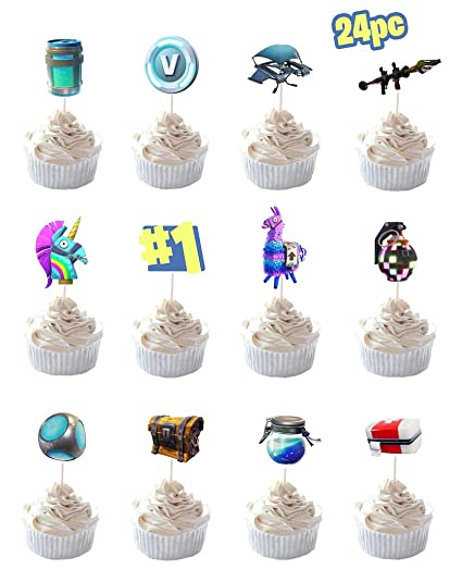 Amazon Party Hive 24pc Cupcake Toppers For Birthday Event
