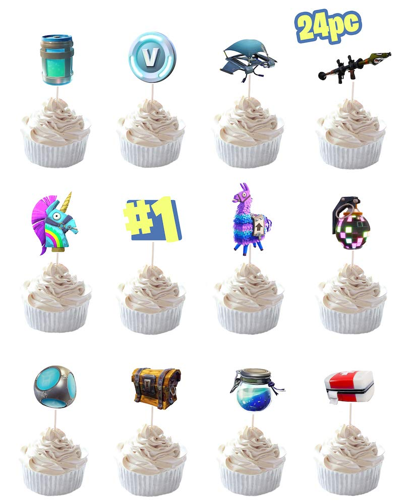 Party Hive 24pc Cupcake Toppers for Birthday Party Event Decor