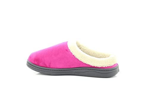 1e2e24a4d50 Dr.Keller Ladies Muriel Pink Warm Fur Lined Slip On Slipper Mules - Pink