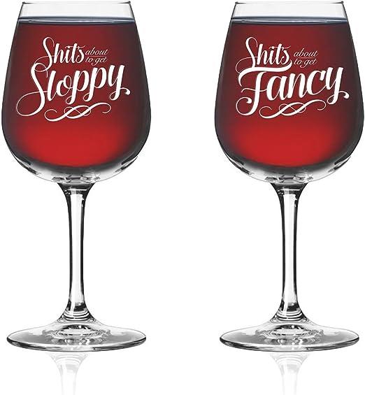 Copa de vino para parejas divertidas (juego de 2) – Vaso para ...