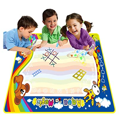 "Degaar Toys Aqua Magic Doodle Drawing Mat to Paint Draw on Extra Large 39"" x 31.5"" for Ages 3, 4, 5, 6, 7, 8: Toys & Games"