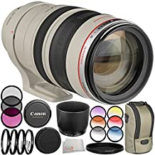 Canon EF 100-400mm f/4.5-5.6L IS USM Lens - International Version (No Warranty) 10PC Accessory Bundle. Includes 3PC Filter Kit (UV-CPL-FLD) + 4PC Macro Filter Set (+1,+2,+4,+10) + 6PC Graduated Filter Kit + Variable ND Filter + Cleaning Cloth + More
