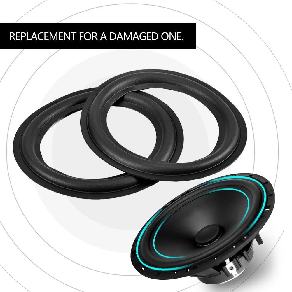 156mm Perforated Rubber Edge Surround Speaker Repair Parts Replacement Socobeta 2pcs Speaker Rubber Edge 6 inch