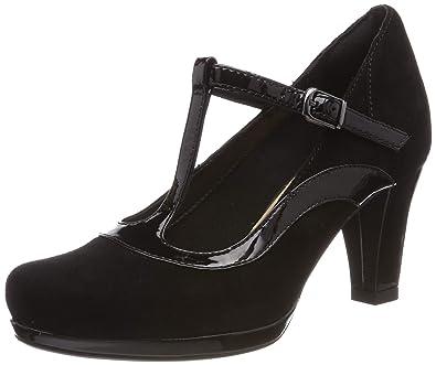 19a7e5c0b99f Clarks Women s Chorus Pitch T-Bar Pumps  Amazon.co.uk  Shoes   Bags