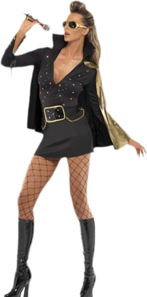erdbeerloft – Mujer Elvis Glamour Viva Las Vegas Disfraz, S – M ...