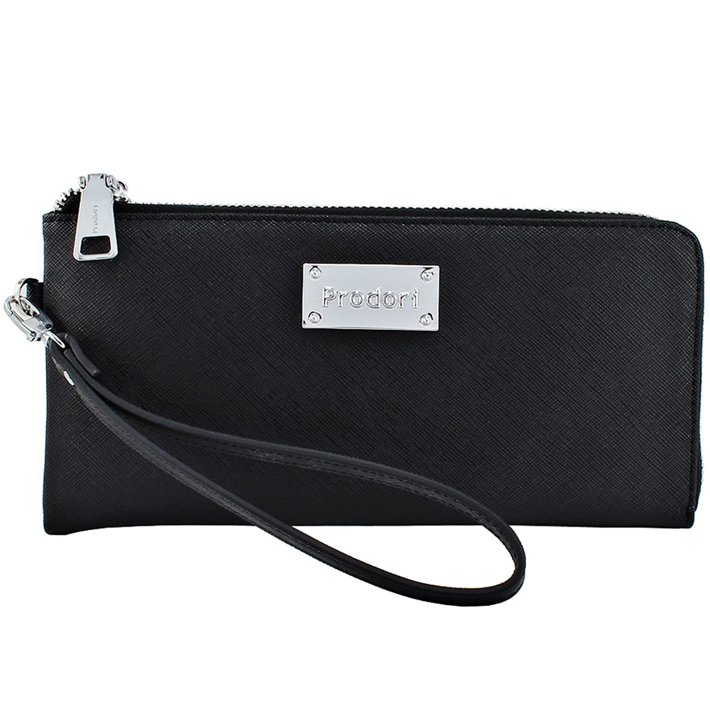 Prodori Luxury Black Leather Clutch