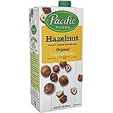 Pacific Foods Hazelnut Milk, Unsweetened Original, 32 oz (6-pack), Shelf Stable, Plant-Based,Vegan, Non GMO