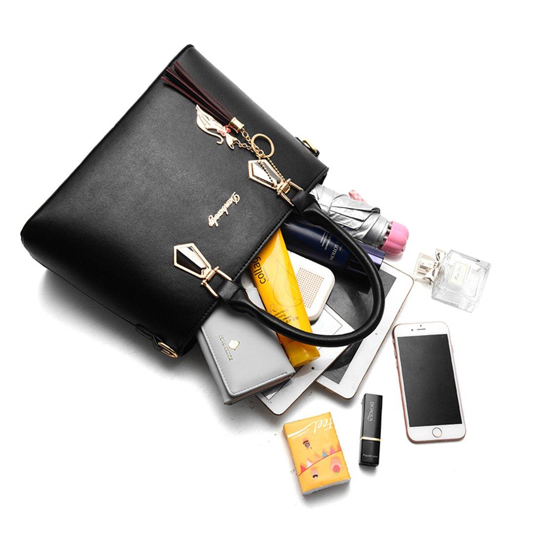 BOFUTE Damen-Umhängetaschen, Handtaschen, PU-Leder, leger, mit Reißverschluss, wasserdicht, 2 Stück Stück Stück B07CN9MGMH Schultertaschen Elegante Farbe 4d26e4