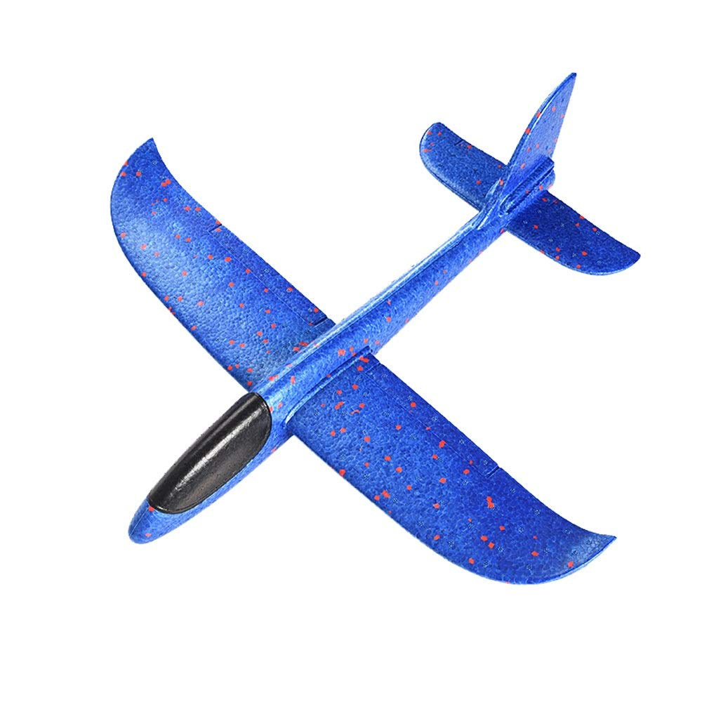 Kikioo 48CM Manual Throwing Foam Plane, Dream Airoplane Gliders, Inertia Flying Aircraft, Manual Circling Functions Flying Gifts For Kids, 3 Year Old Boy,Outdoor Sport Game Toys, Birthday Party Red