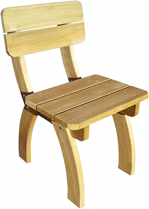 SHENGFENG Sillas de Jardín, Madera de Pino, Silla Exterior Juego de sillas para Jardin 50 x 60 x 86 cm: Amazon.es: Jardín
