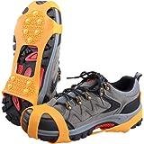 TRIWONDER Steigeisen mit 10 Zähnen, Schuhkrallen, Schuhspikes, Schneeketten, Anti Rutsch Spikes, Ice Grips für Wandern EIS Schnee