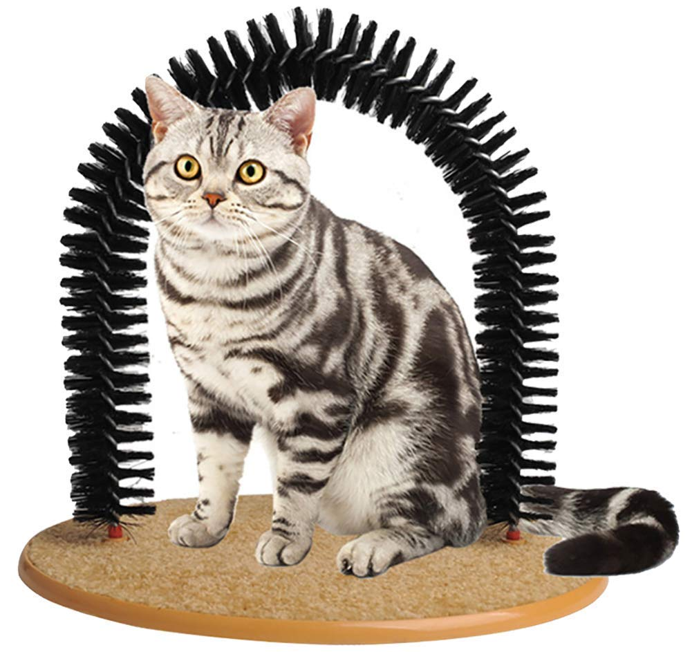 Soft Pet Cat Self Grooming Comb Brush Kitties Cat Arch Self Massage Brush Hair Trimming Brush Cat Scratcher Pet Toy by Pethiy