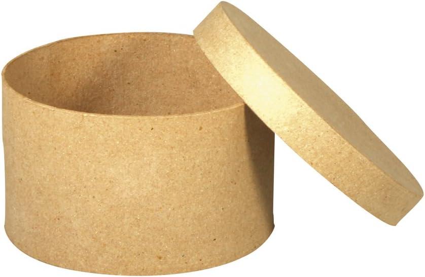 Rayher 67033000 Cardboard M/âch/é Box FSC Recycled 100/% Round 4.5 cm Hoc
