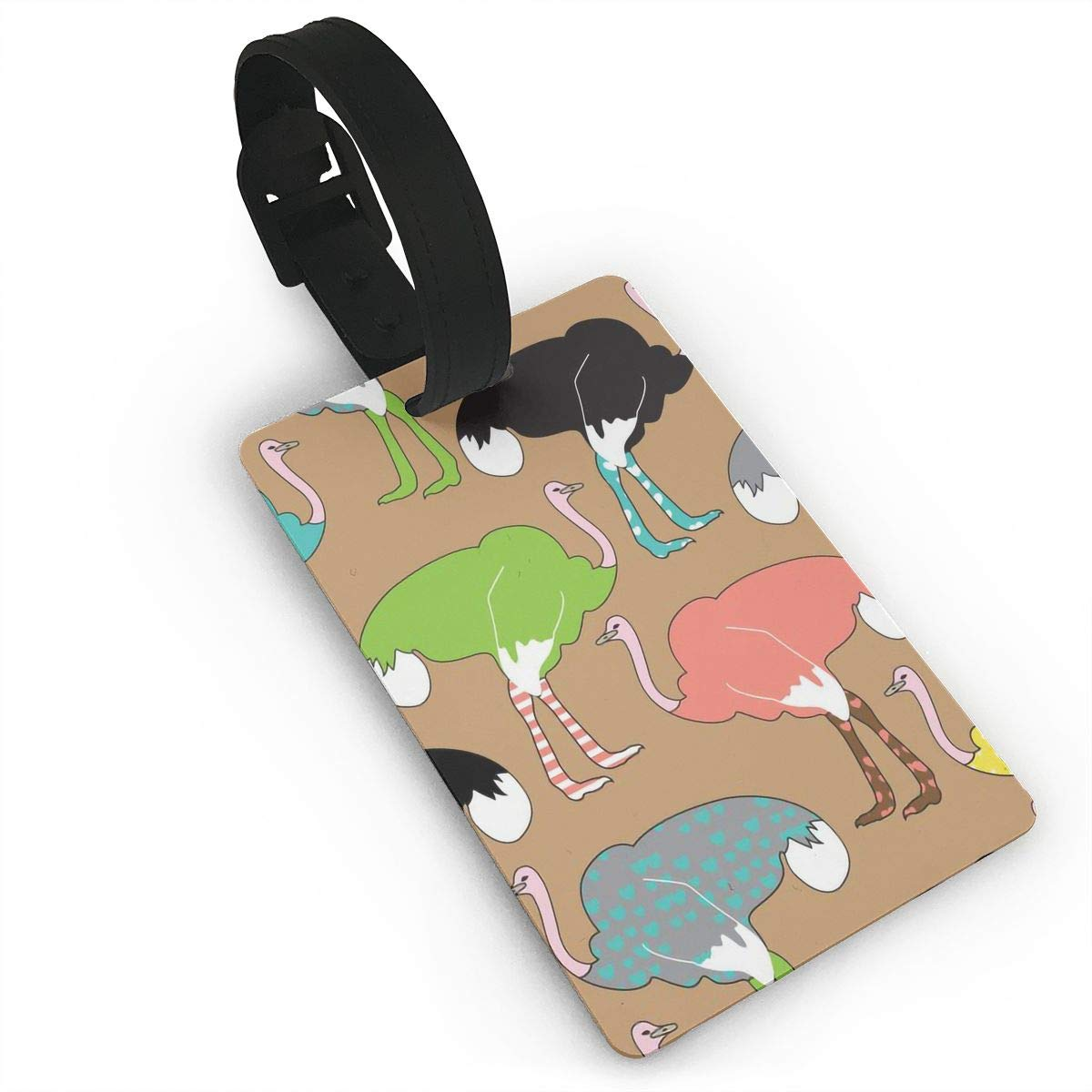 Ostrich Baggage Tag For Suitcase Bag Accessories 2 Pack Luggage Tags