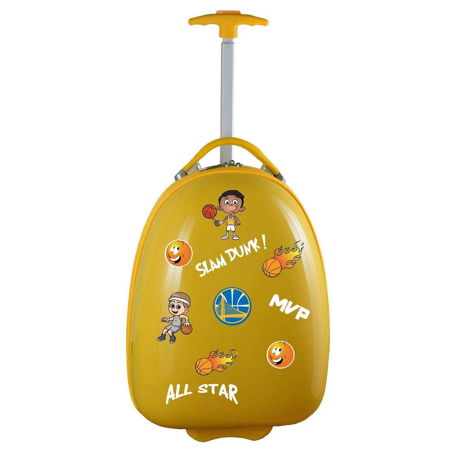 Denco NBA Golden State Warriors Kids Lil' Adventurer Luggage Pod, Yellow