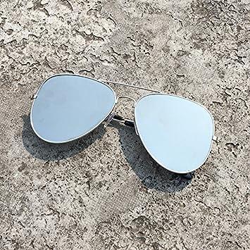 LXKMTYJ Personalisierte Sonnenbrille Rückwärtsreflektierend Spiegel Kröte Sonnenbrille, Männer und Frauen, die silberne Platte Sonnenbrille Mercury