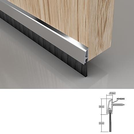 Sello del cepillo de la parte inferior de la puerta con tapa de fijación oculta,