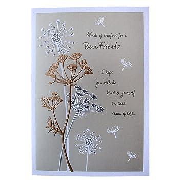 hallmark sympathy card for friend words of comfort medium