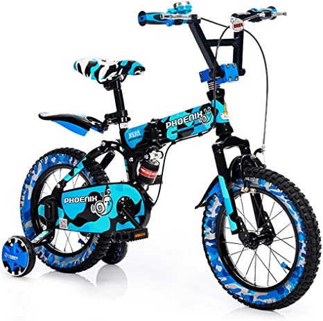 Bicicleta Plegable para niños, Bicicleta para bebés de 2 a 10 años ...