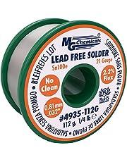 MG Chemicals Sn100e, 99.5-Percent Tin, 0.5-Percent Copper, Trace of Cobalt, Lead Free, No Clean.81mm.032-Inch Dia.081
