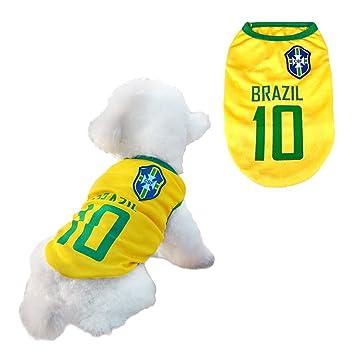 Trajes Perro Disfraz Gato Ropa para Perros Camiseta Fútbol Copa del Mundo FIFA Copa de Europa