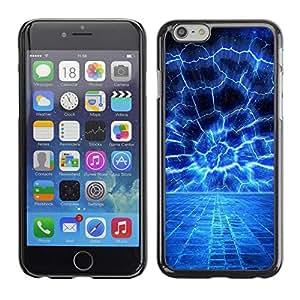Be Good Phone Accessory // Dura Cáscara cubierta Protectora Caso Carcasa Funda de Protección para Apple Iphone 6 // Blue Electrical Storm