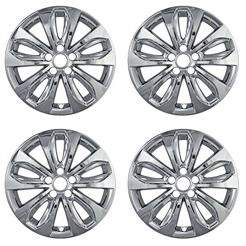 Rim Edge (OxGord 18 inch Hubcap Wheel Skins for 2010-2013 Hyundai Sonata-(Set of 4) Wheel Covers- Car Accessories for 18inch Chrome Wheels- Auto Tire Replacement Exterior Cap Cover)