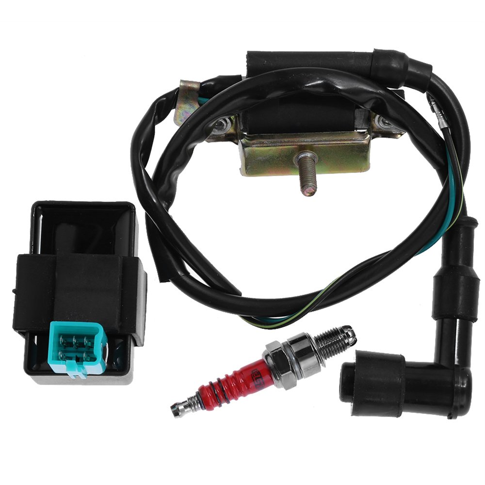 Ignition Coil + CDI Box + Spark Plug for Honda XL185 XL XR 70 75 80 100 125 175 185 200 250 Saihisday