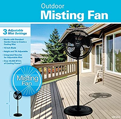 Holmes Outdoor Misting Fan with 3 Speed Settings