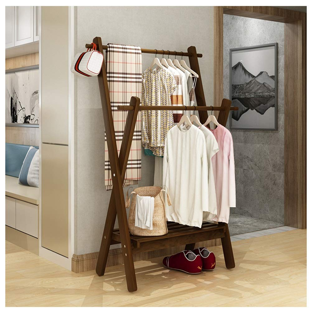 C WYQSZ Coat Rack Home Bedroom Living Room Corner Hanger Floor Rack - Coat Rack 8563 (color   B)