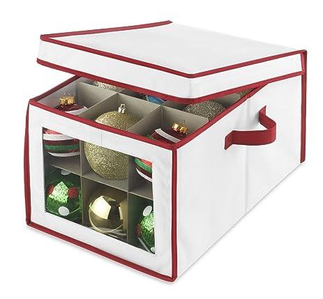 Amazoncom Whitmor Christmas Ornament Storage Box Home  Kitchen