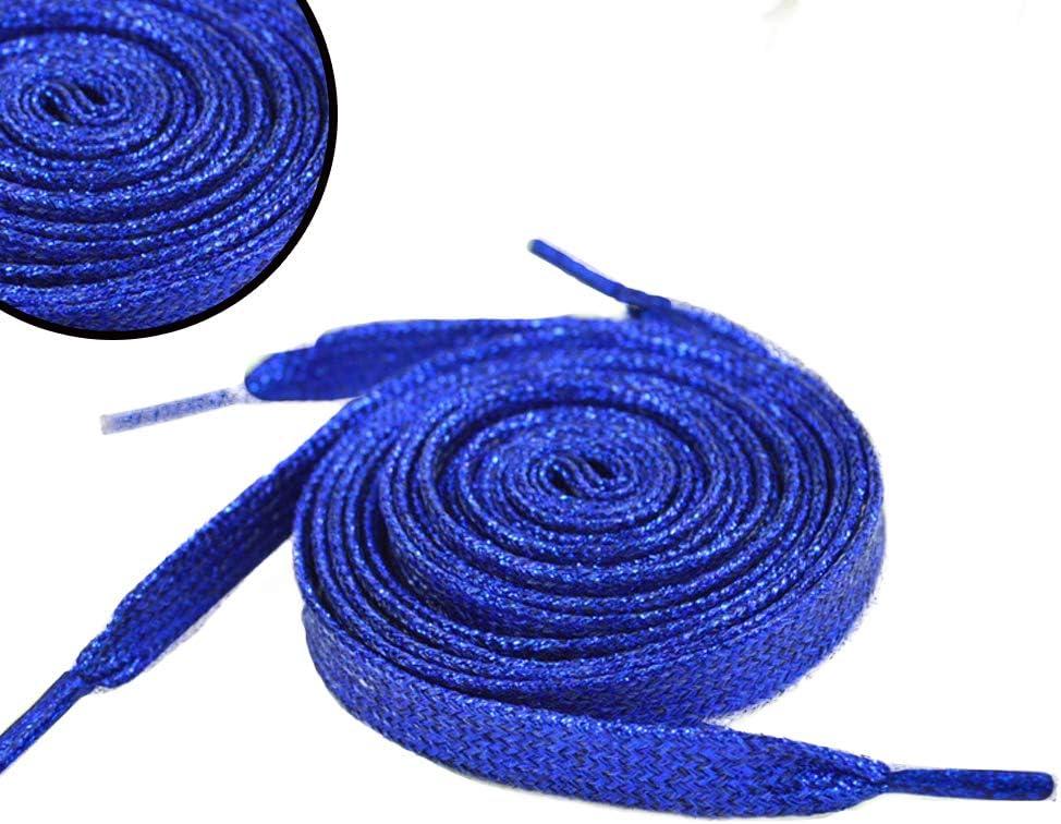 jasminelady 1 Paire de Lacets m/étalliques /à Paillettes pour Chaussures et Baskets