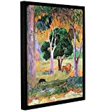 Paul Gauguin's Dominican Landscape, Gallery-Wrapped Floater-Framed Canvas 36X48 Paul Gauguin Dominican Landscape, Gallery-Wrapped Floater-Framed Canvas is a high-quality canvas print that uses simplified images and bold colors to capture a rural, tro...