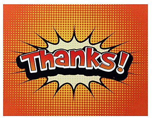 Thank You Cards - Orange - Blank on the Inside - Perfect for Birthdays - Includes Cards and Envelopes - 5.5