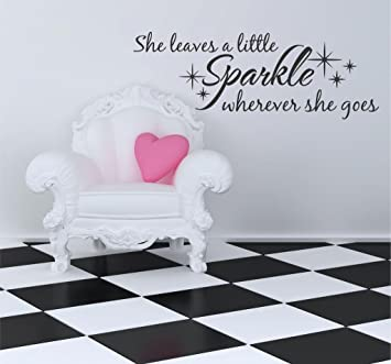 Amazon.com: She Leaves a Little Sparkle Vinyl Wall Decal, 28\