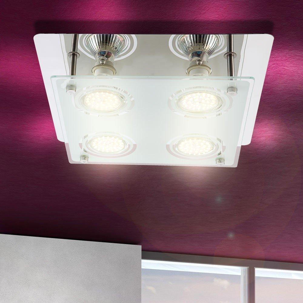 12W LED Deckenleuchte Deckenlampe Wohnzimmer Esszimmer Flur Lampe Leuchte  Globo 48966 4: Amazon.de: Beleuchtung