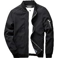 510009874b223 sandbank Men s Slim Fit Lightweight Softshell Flight Bomber Jacket Coat
