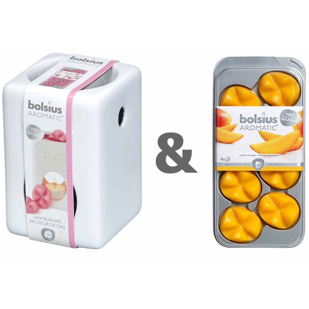 8 X Bolsius wax melts 8er Pack exotique Mango