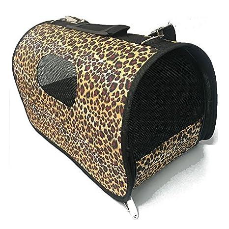 HappyZoo Transportín para Gatos - Talla M - Mod Leopardo: Amazon.es: Productos para mascotas
