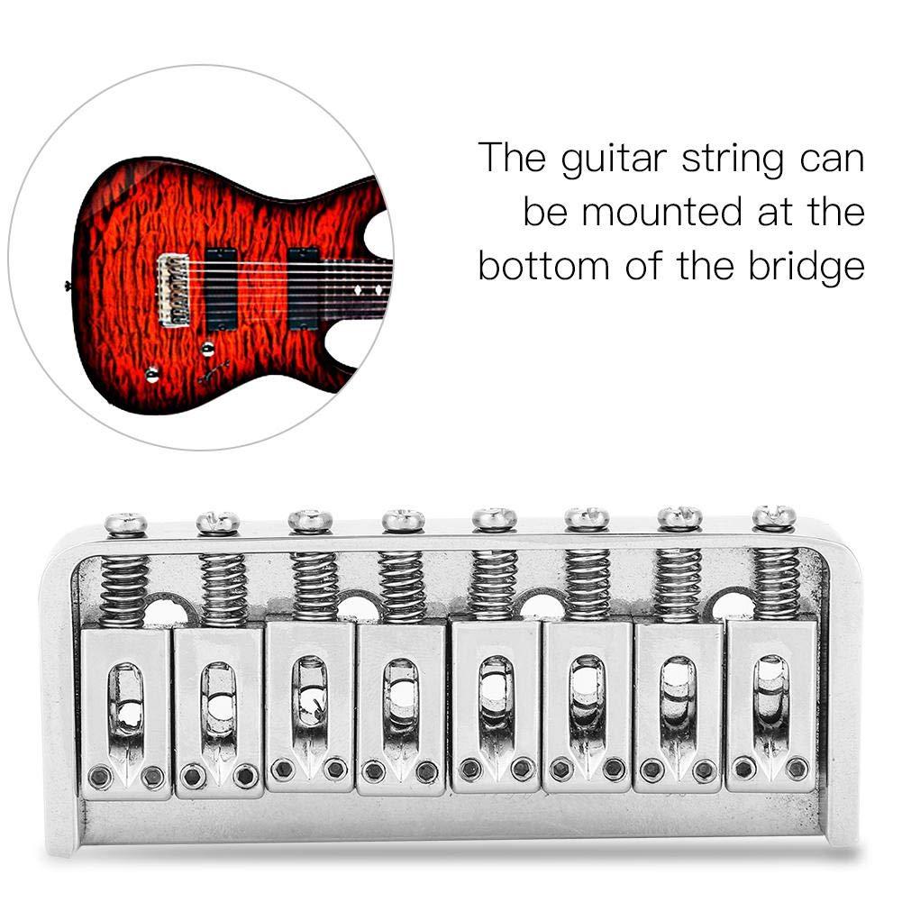 Dilwe Puente de Guitarra, Metal Puente Saddle para 8 Cuerdas Guitarra Eléctrica Instrumento Musical Accesorio: Amazon.es: Deportes y aire libre