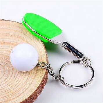 SunnyGod Llavero Deporte Ping-Pong Llavero Bolso Colgante ...