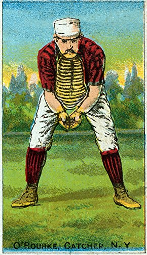 New York Giants - Jim O'Rourke - Baseball Card (24x36 SIGNED Print Master Giclee Print w/ Certificate of Authenticity - Wall Decor Travel Poster)