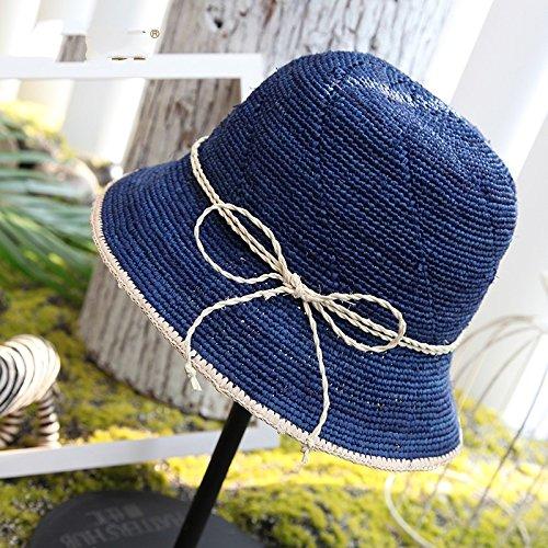 Llztym sun headwear Mujer sombrero Beige Viaje sombreros verano regalo suncap Green De de Paja Playa sombreros Cap 57cm xHnwxrFv7