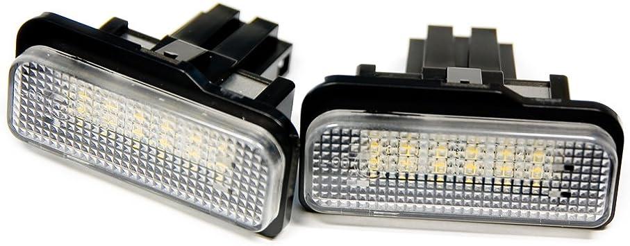 2 X Led Kennzeichenbeleuchtung Xenon Weiß 6000k Leuchten Kennzeichen Top Auto