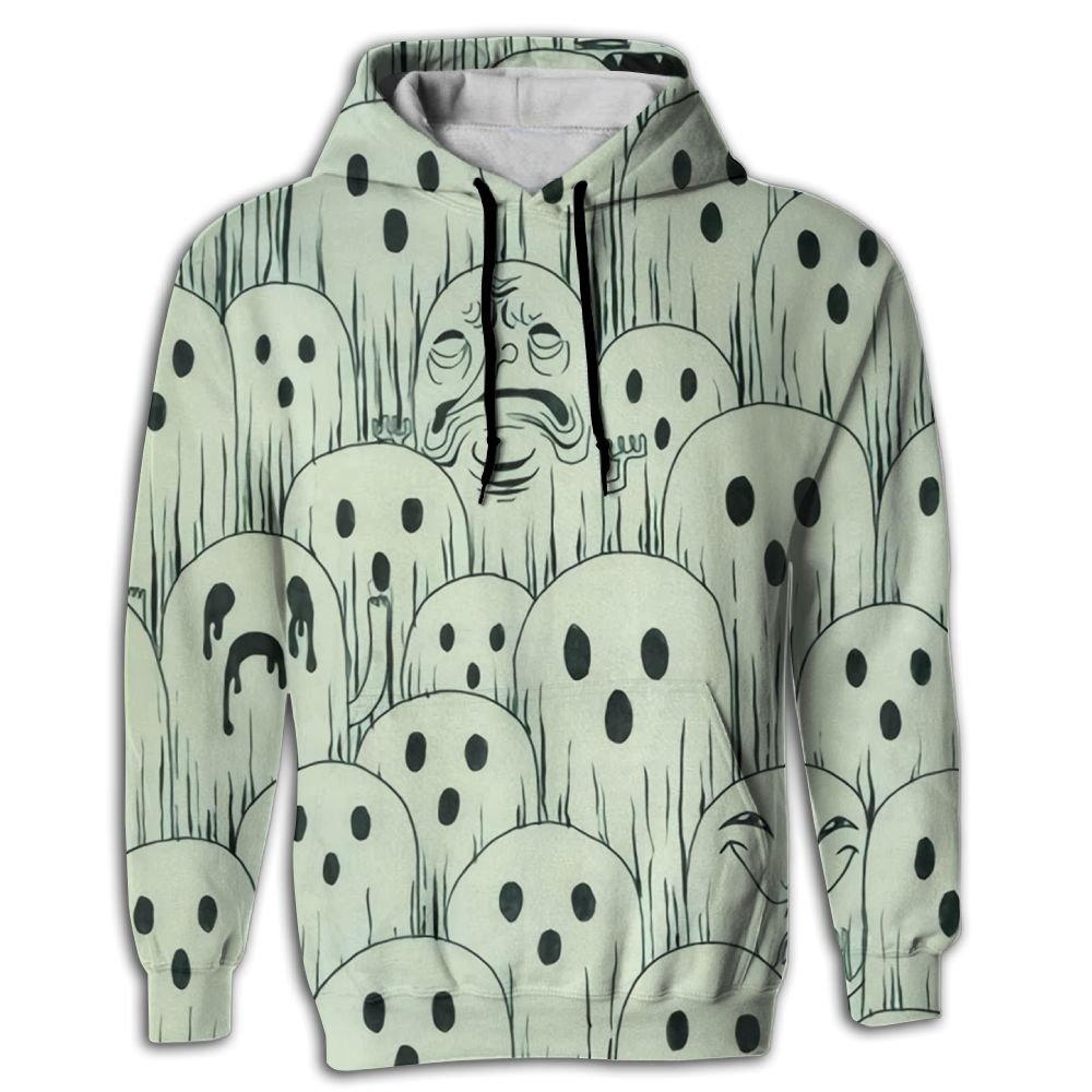 QQMIMIG Unisex The Fantasmitas 3D Printed Pullover Long Sleeve Fleece Hooded Sweatshirts with Pockets