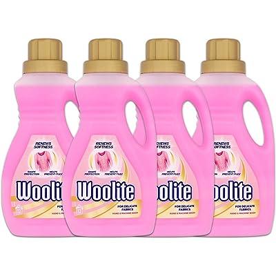 Woolite - Detergente para prendas delicadas, lavado a mano y a máquina, 15lavados, 750ml (paquete de 4)