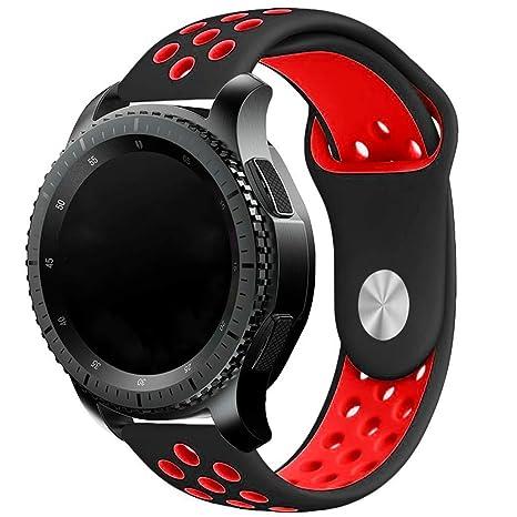 Elespoto 20MM Reemplazo liberación rápida Correa de Reloj Silicona Hebilla Pulsera para Samsung Gear S2 Classic SM-R732 / SM-R7320, Motorola Moto 360 ...