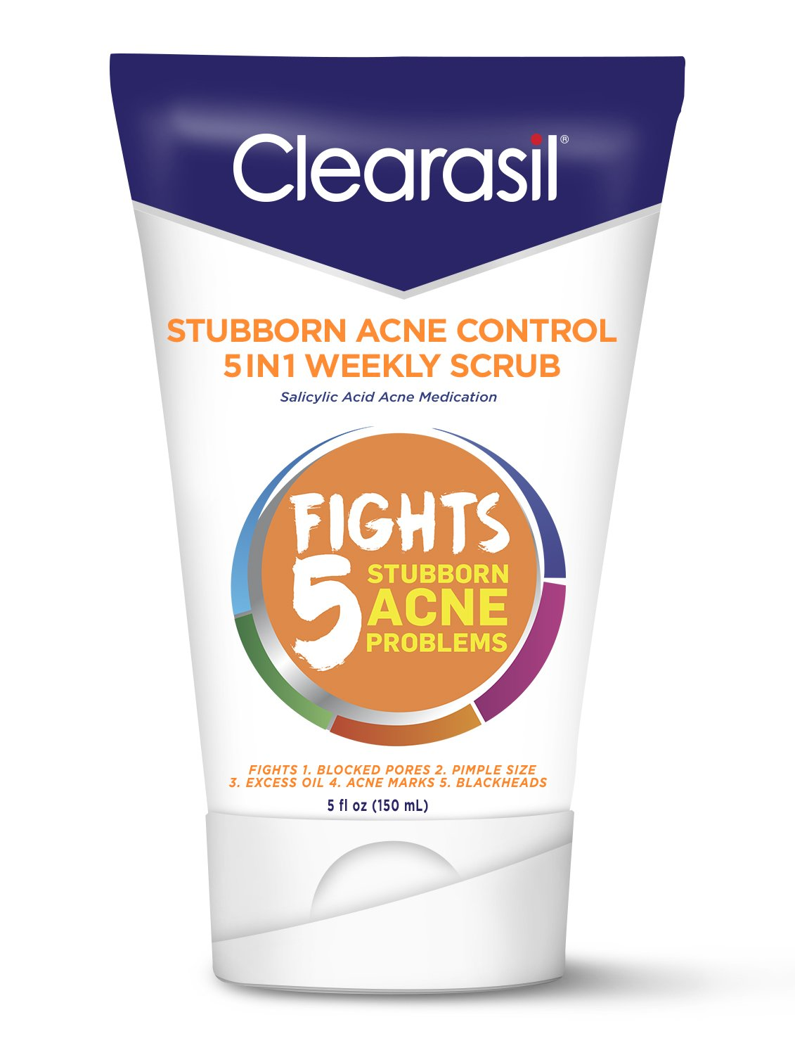 Clearasil Stubborn Acne Control 5in1 Weekly Scrub, 5 oz. (Packaging may vary)